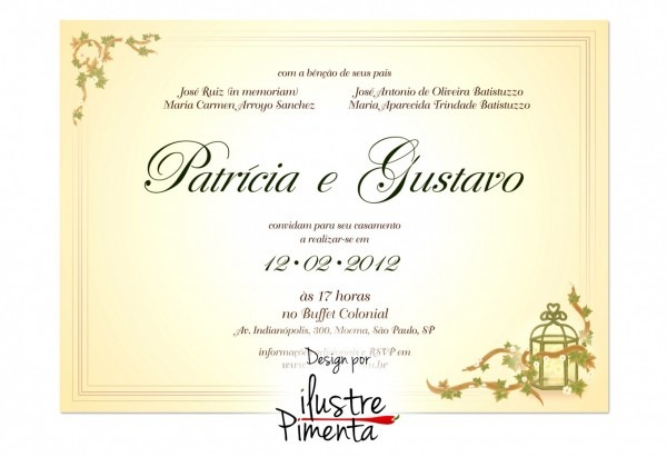 Galeria de artes para convites casamento gratis design arte