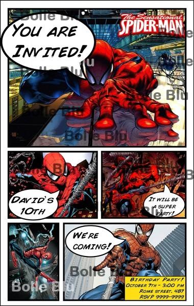 Hq homem aranha convite personalizado no elo7
