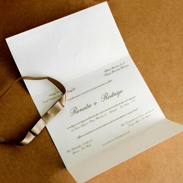 Maravilhoso de tipos convites para casamento simples convite elo7