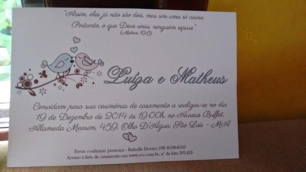 Convite de casamento❤ pombinhos apaixonados