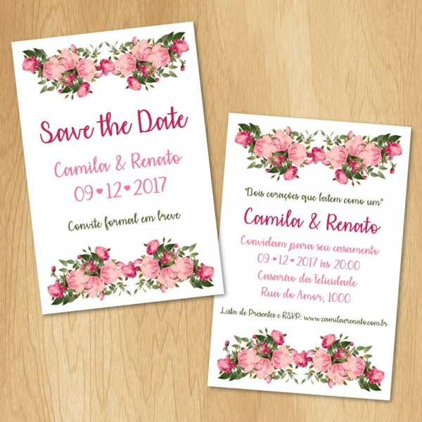 Kit arte digital save the date e convite