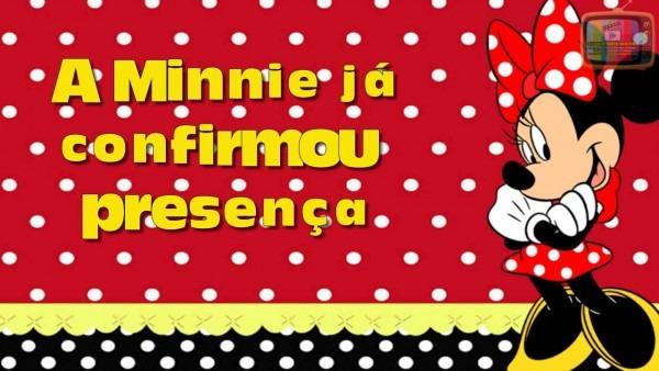 Convite virtual minnie vermelha