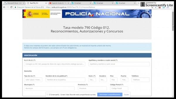 Carta convite na espanha parte 2,, legal na espanha