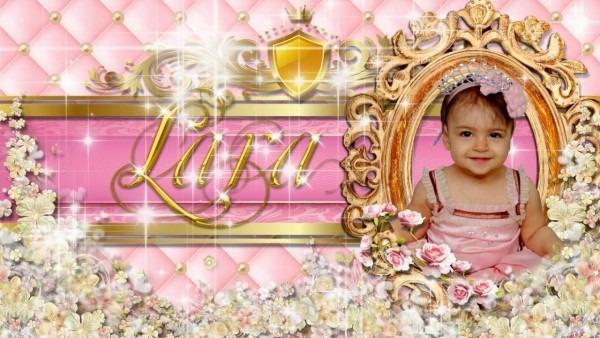 Convite virtual princesa lara 1 aninho