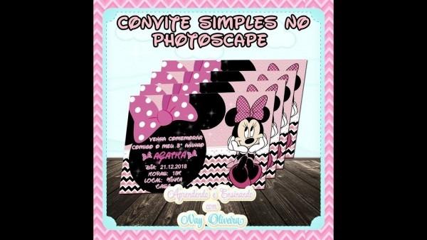 Como fazer convite no photoscape