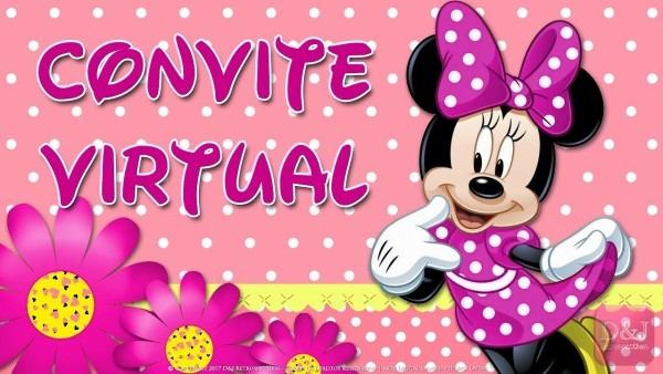 Convite virtual minnie rosa 🌸