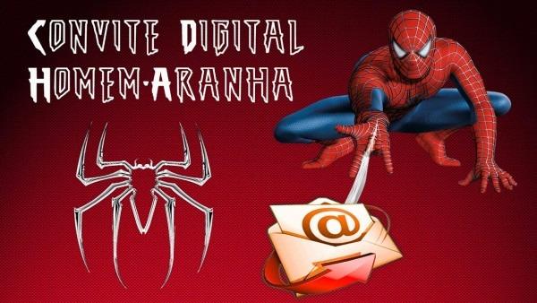Modelo de convite digital homem aranha