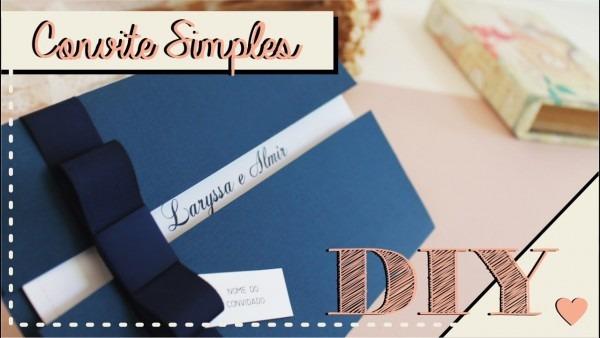 Como fazer convite de casamento simples  diy