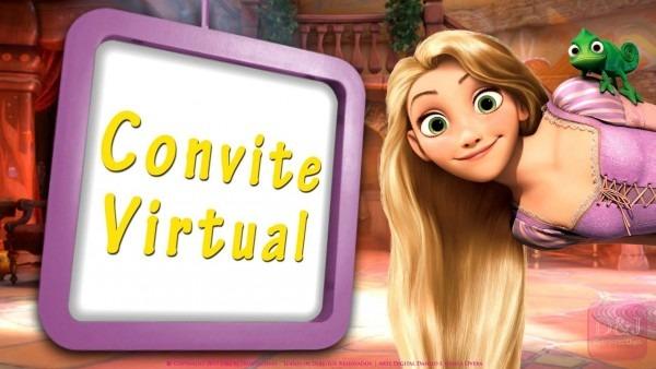 Convite virtual rapunzel enrolados