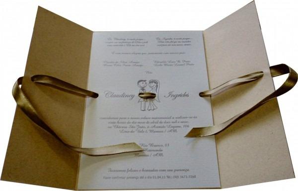Novo como fazer o proprio convite de casamento r stico com doilie