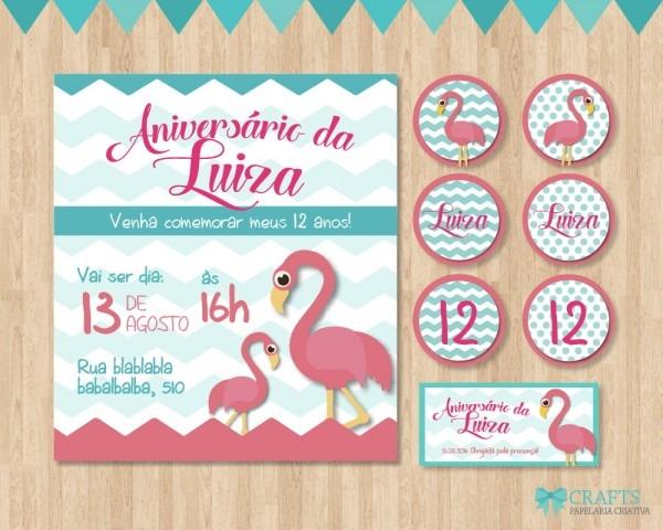 Mini kit festa de flamingo no elo7