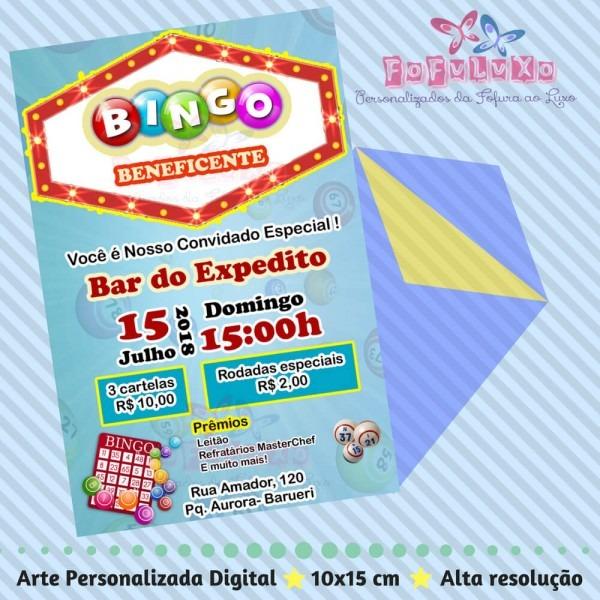 Convite bingo b1 – arte digital – fofuluxo
