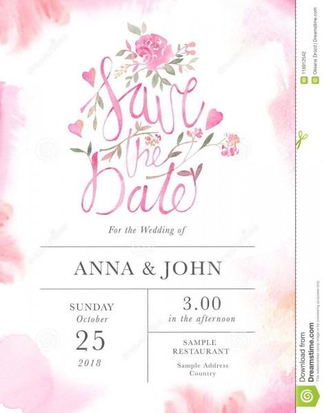 Molde do cartão do convite do casamento com as flores cor