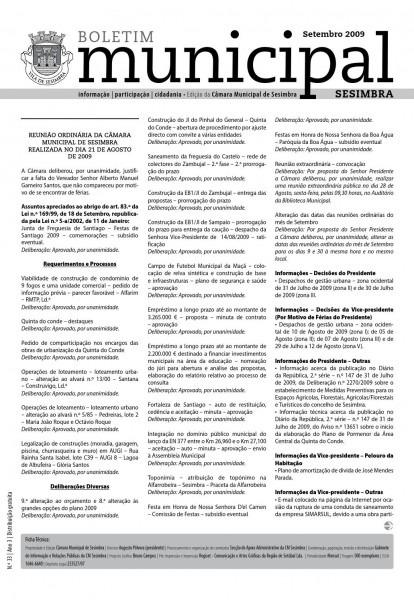 Boletim municipal n º 33 by câmara municipal sesimbra
