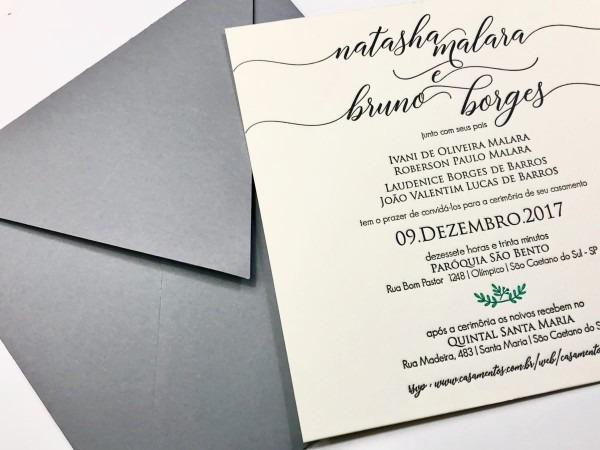 Convites de casamento, papel & letterpress