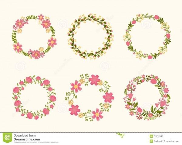 Quadros bonitos da grinalda do vetor para convites do casamento