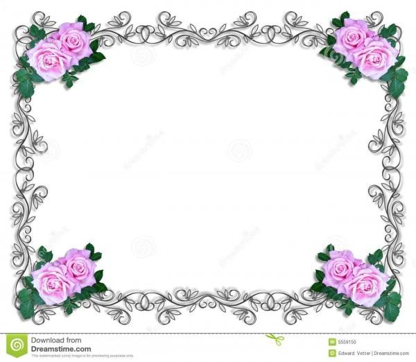Rosas do convite do casamento ou do partido ilustração stock