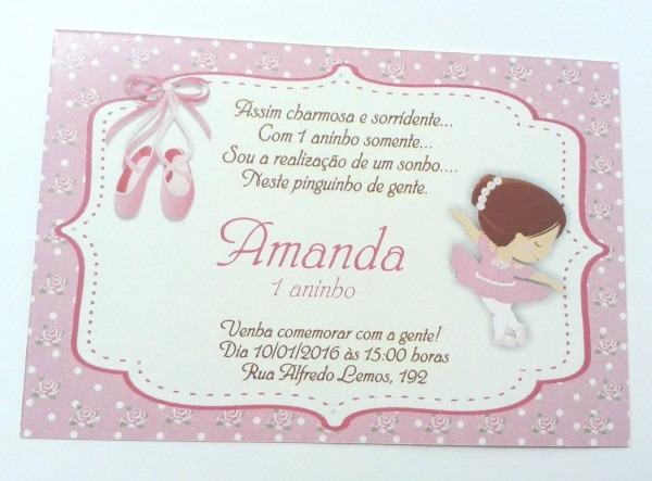 Super promoÇÃo convite bailarina 2 no elo7
