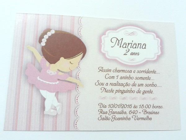 Super promoÇÃo convite bailarina 3 no elo7