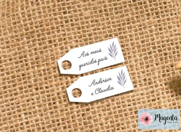 Tag para casamento impresso