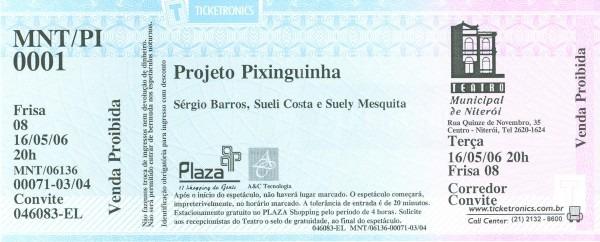 Imagens em projeto pixinguinha