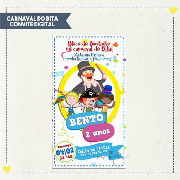 Convite tema carnaval
