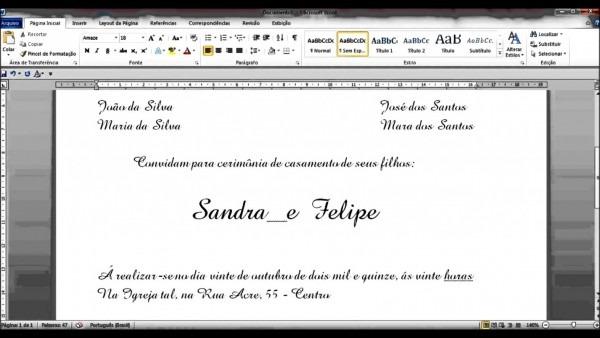 Tend ncia de convite casamento editavel word como fazer no edit