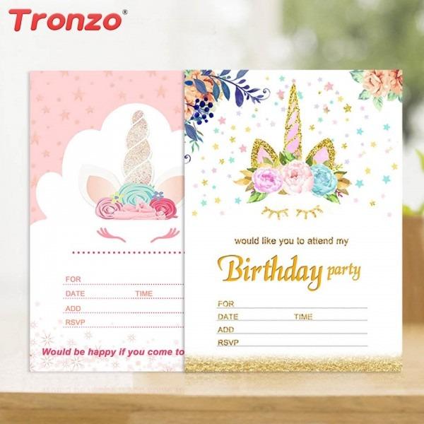 Tronzo unicórnio decoração 10 pcs cartão convites de casamento