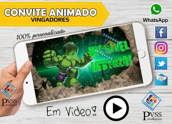 Video convite animado