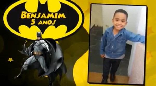 Video convite virtual animado batman envio por whatsapp