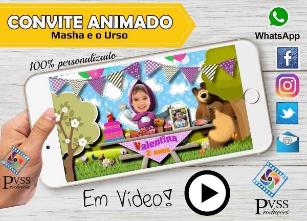 Video convite virtual digital animado no elo7