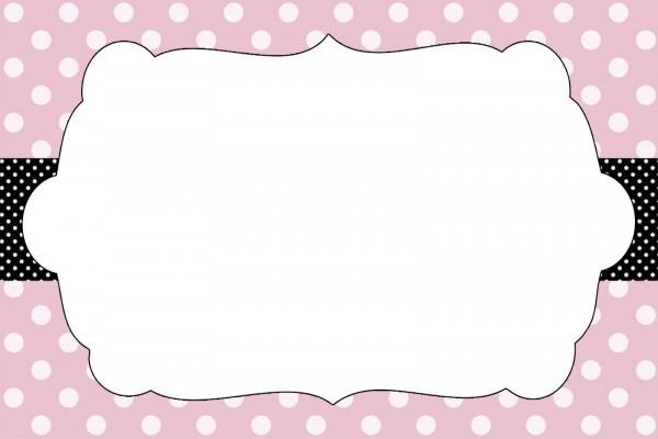 Center poá preto e rosa  center