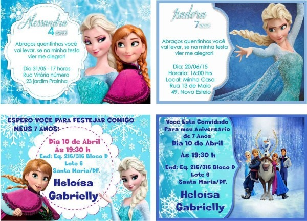 32 convites frozen personalizados com foto nome e frase