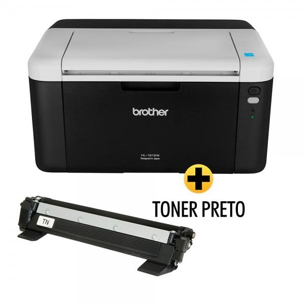 Impressora laser hl1212w + toner tn1060br brother