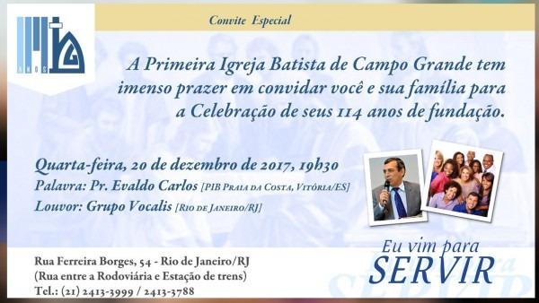 Convite especial – 114 anos