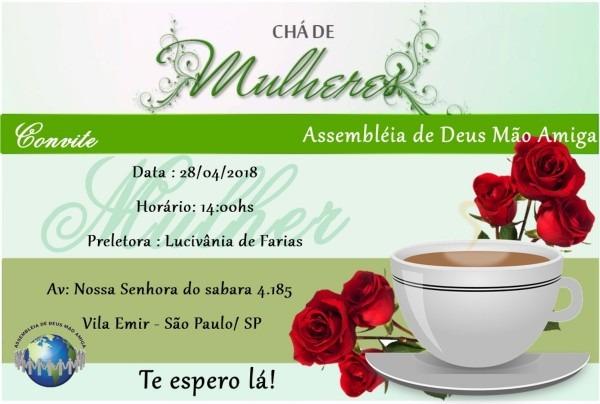 Arquivo digital convite chá de mulheres no elo7