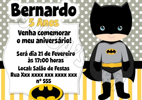 Arte digital convite herois no elo7