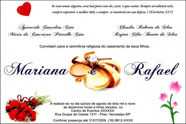 Incr vel criar convite de casamento online para imprimir cart o