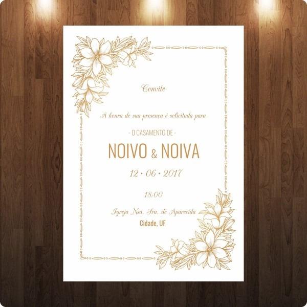 Casamento convite gold