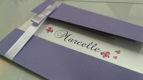 Convite 15 anos lilás no elo7