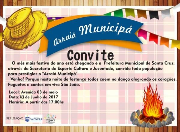 Blog santa cruz 24h  convite da prefeitura de santa cruz para o