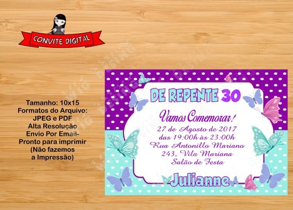 Convite 30 anos digital