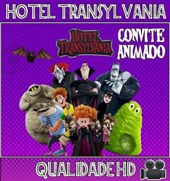 Convite animado (vídeo) aniversário hotel transylvania
