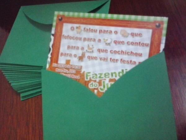 Convite aniversÁrio com envelope no elo7