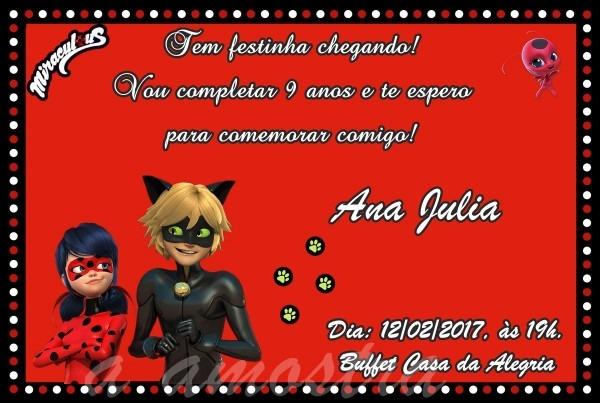Convite digital aniversario lady bug no elo7
