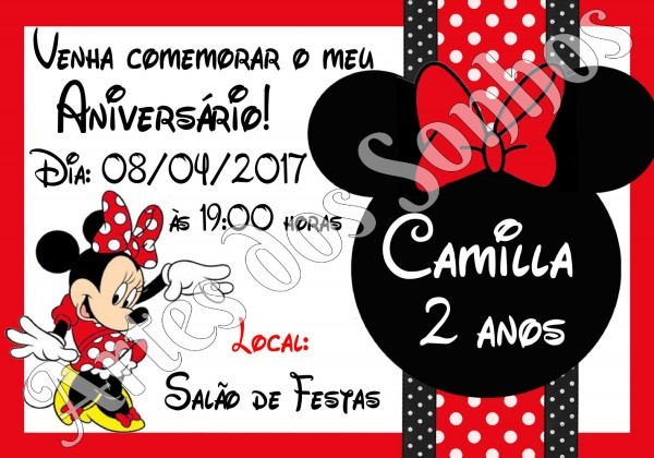 Convite de anivers√°rio da minnie vermelha 4 » happy birthday world
