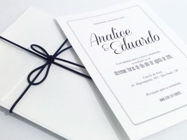 Convite de casamento clássico detalhes no elo7