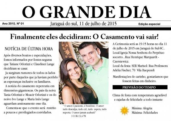 Convite de casamento de jornal no elo7