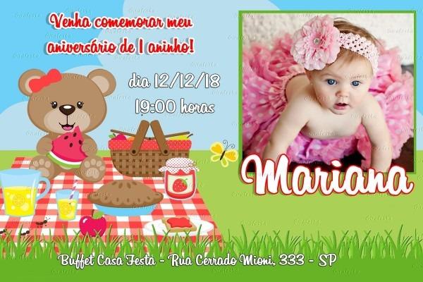 Convite digital piquenique para imprimir e whatsapp no elo7