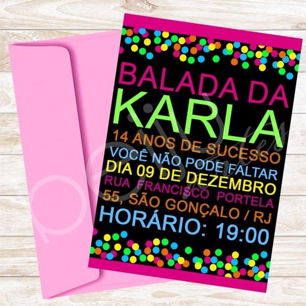 Convite digital, tema balada + brinde no elo7